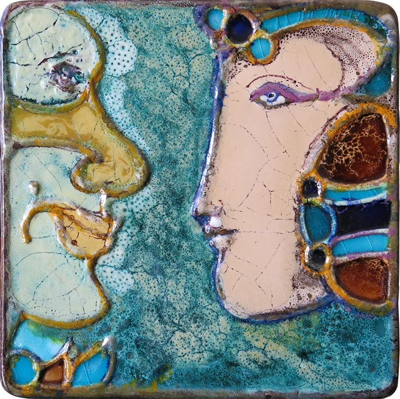 Querubim Lapa (1925-2016) | Ceramic Wall Plaque , c.1970