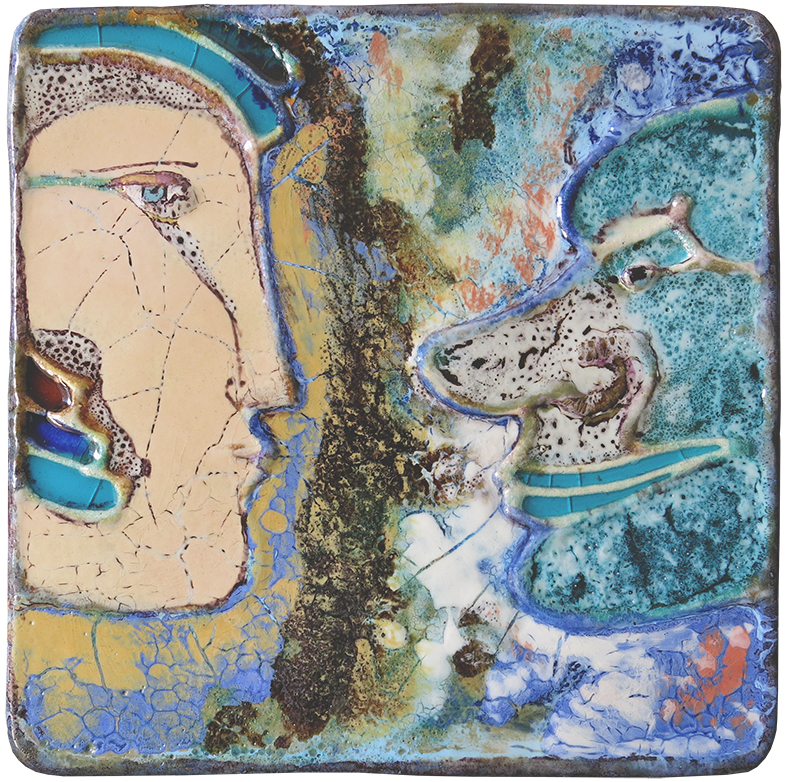 Querubim Lapa (1925-2016)   Ceramic Wall Plaque , c.1970