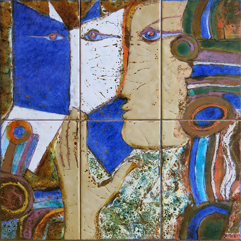 Querubim Lapa (1925-2016)   Ceramic Tile Panel #10, c.1991