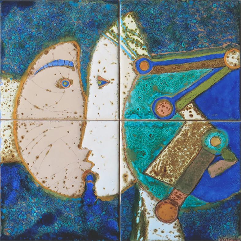 Querubim Lapa (1925-2016) | Ceramic Tile Panel, c.1991