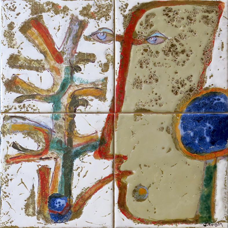Querubim Lapa (1925-2016) | Ceramic Tile Panel #7, c.1991
