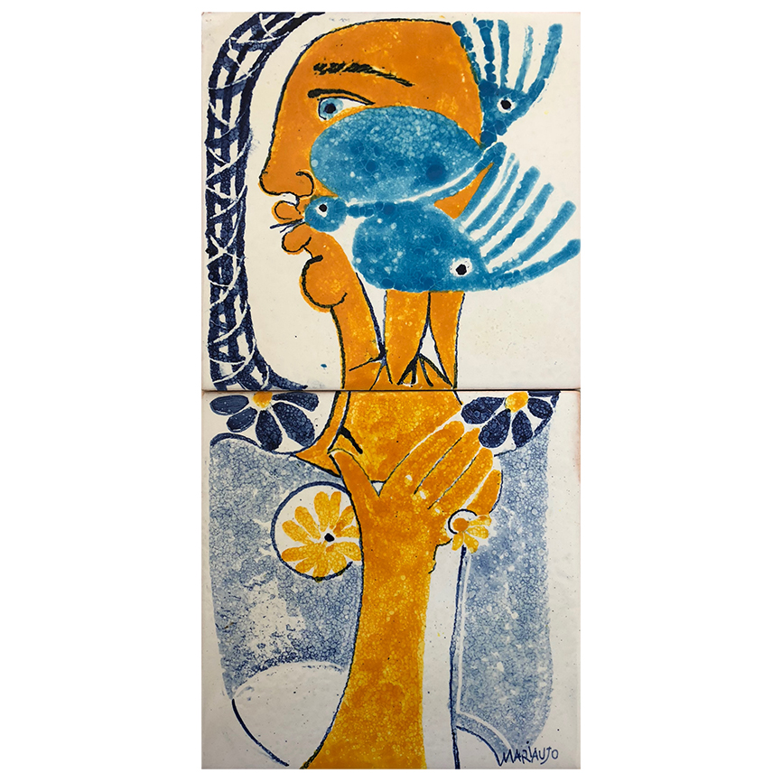 "Maria Emília Araújo (1925-2016) | Ceramic Tile Panel ""Blue Bird"", 2012"
