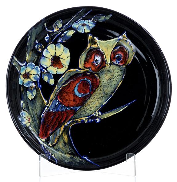 "Carlos Vizeu (1925-2012) | PLATE ""Owl"", 1985"